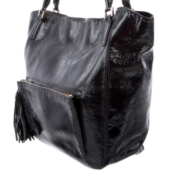 Anya Hindmarch Handbags - ANYA HINDMARCH Patent Leather Tote Bag